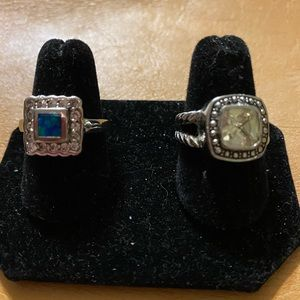 Set of Two women's fashion rings